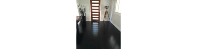 Dark timber floor