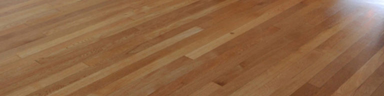 Waterborne finish timber floor