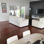 Polished wood floors