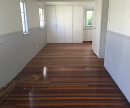 Polished floorboards in a Gold Coast home
