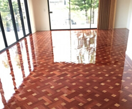 Parquetry floor restoration and polish