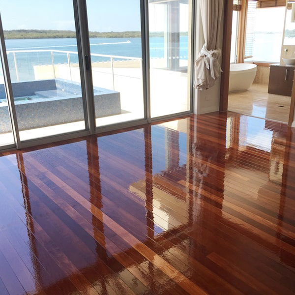 New polished floors