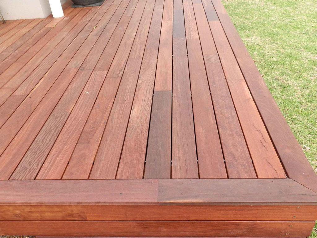 Outdoor deck made from Jarrah timber flooring