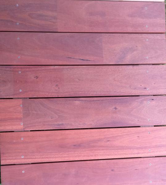 Closeup of a Jarrah plank